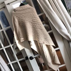 """DKNY """"cozy"""" cable knit wrap sweater"""